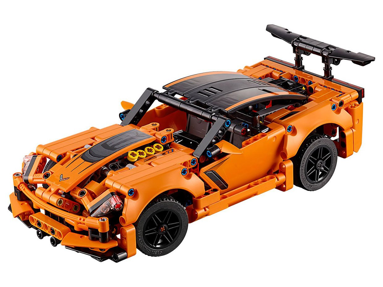 lego technic corvette zr 1 doubles as a hot rod
