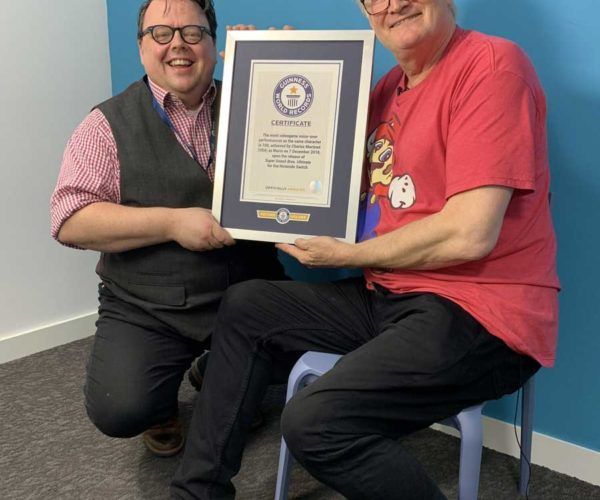 Charles Martinet, Voice of Mario, Lands Guinness World Record