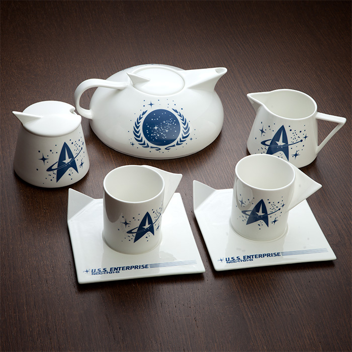 Star Trek Captains Tea Set Is Perfect For Starfleet Tea Parties