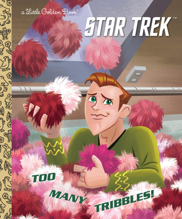 """Star Trek Gets Trouble with""""Too Many Tribbles"""" Little Golden Book"""
