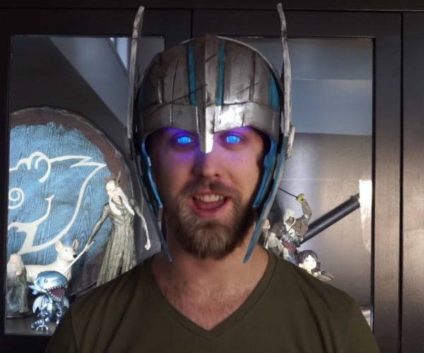 This Helmet Makes Your Eyes Glow Like Thor's