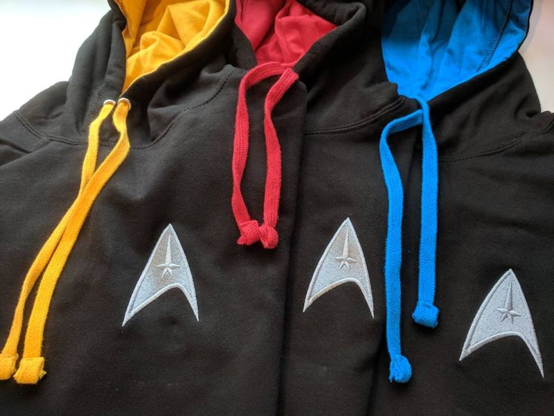 75c1989c13d14 These hoodies are so understated that you can finally show off your love  for Star Trek without going full nerd at warp speed. They only cost about  $28 each ...
