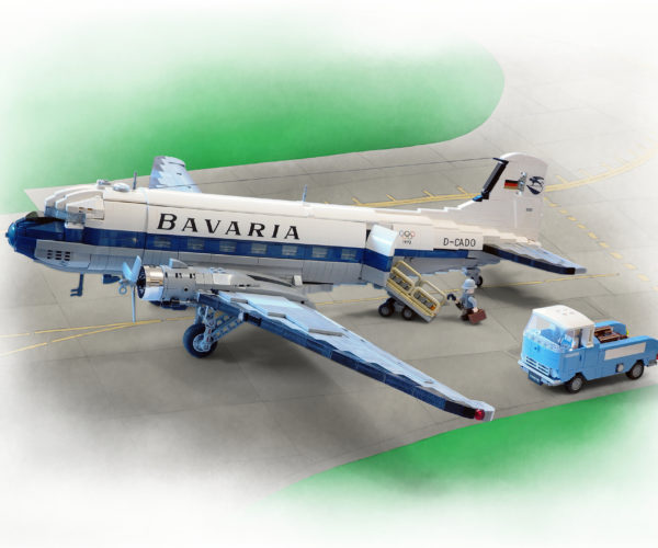 This Beautiful Custom LEGO Douglas DC-3 is a Classic