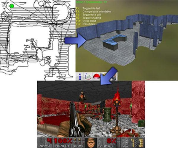 DOOMBA Creates Doom Maps Using Your Roomba