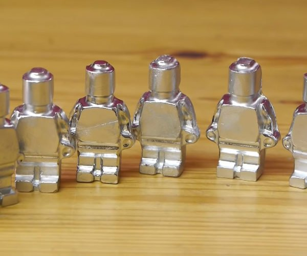 Melting Metal LEGO Minifigs Like Mini Terminators