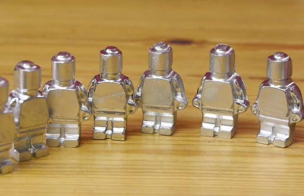 Melting Metal LEGO Minifigs Like Mini Terminators - Technabob