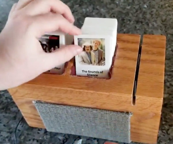 This Handmade Jukebox Uses a Card Scanner to Select Tracks
