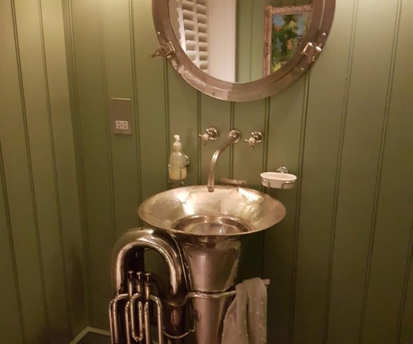 Bathrooms Equipped with Brass Instruments Instead of Sinks and Urinals