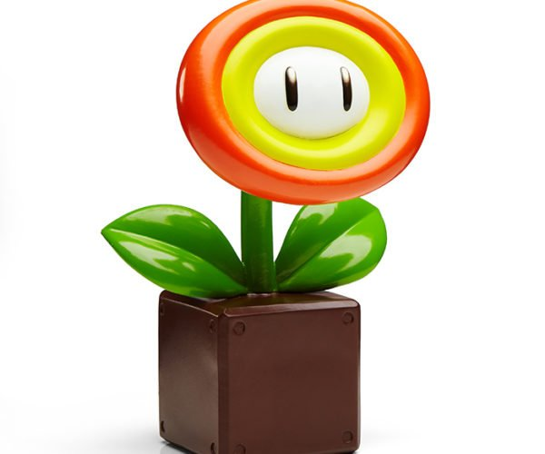 Super Mario Fire Flower Garden Statue: No Green Thumb Required