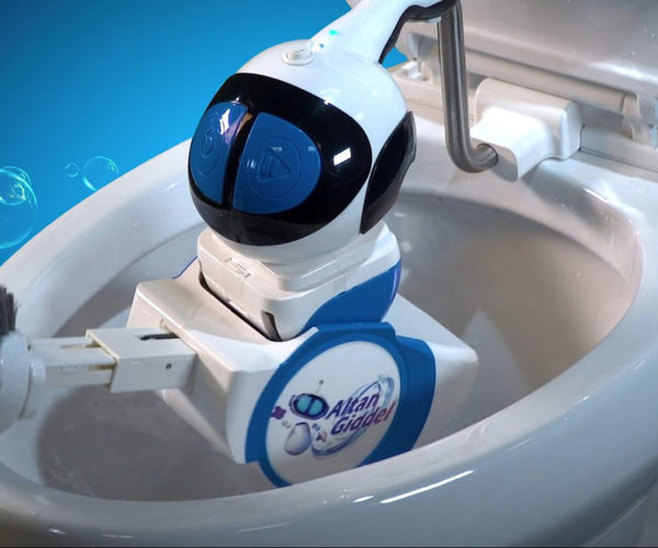 This Little Robot Is Designed to Clean Toilets