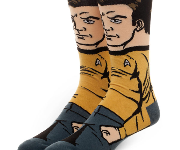 Captain Kirk Crew Socks: Sockship Enterprise
