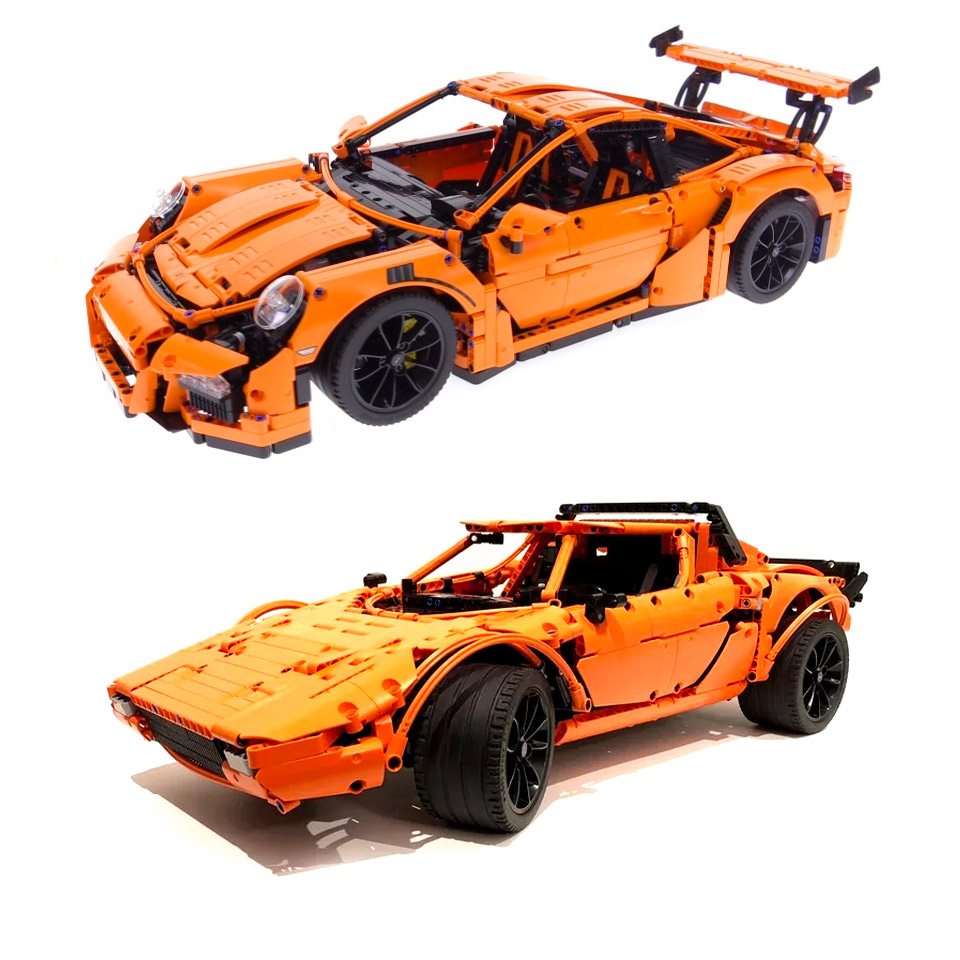lego porsche 911 gt3 rs kit can also build a lancia. Black Bedroom Furniture Sets. Home Design Ideas