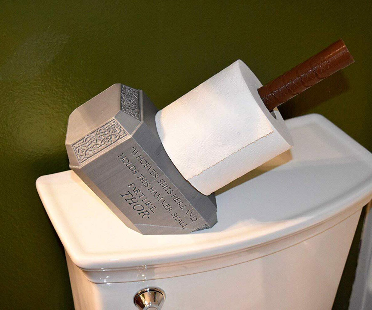 Toilet Paper Holder : Thor mjolnir toilet paper holder: for the god of thunder boomers