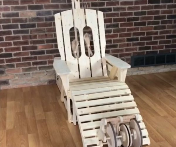 Woodworker Builds Automatic Back Scratching Massage Chair