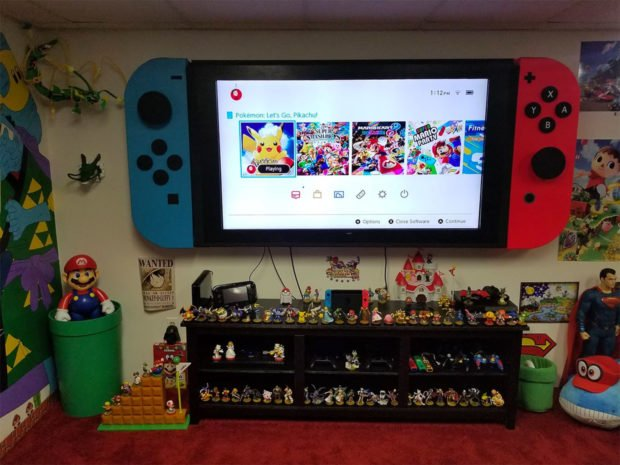 This 65 Inch Tv Is A Giant Nintendo Switch