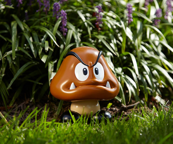 Super Mario Goomba Garden Statue: Watch Your Step!