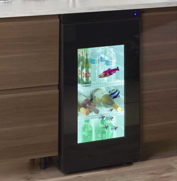 This Crazy-expensive Tiny Fridge Has a See-through Video Display Door