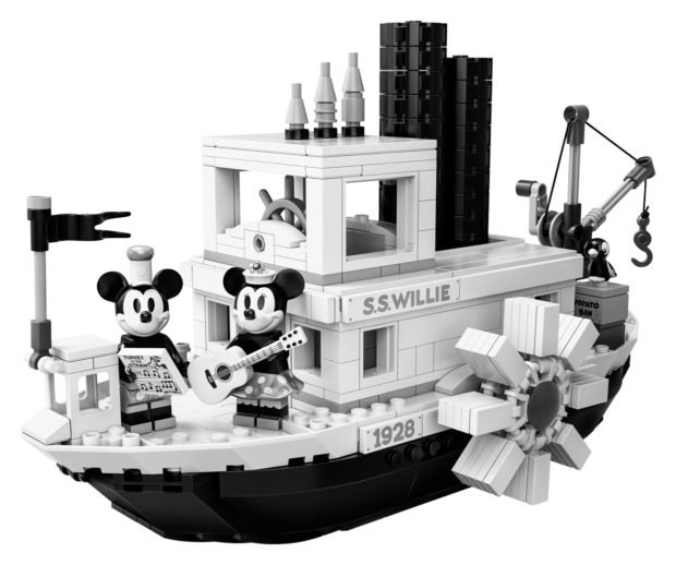 LEGO Ideas Steamboat Willie Set Is a Black and White Dreamboat