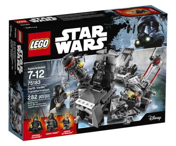 Darth Vader LEGO Transformation Set: Anakin No More