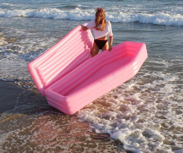 Pink Coffin Pool Float Is for the Cheerful Goth
