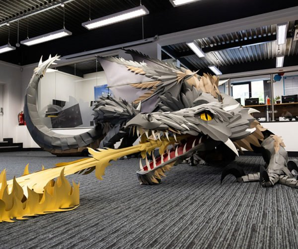 This Giant Paper Game of Thrones Dragon Is Simply Amazing