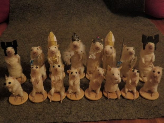 Taxidermy Mouse Chess Set: These Meeces Are Pieces