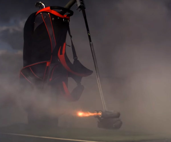 This Rocket Powered Golf Club Swings at 150 MPH