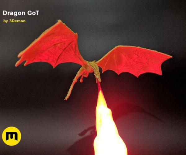 Game of Thrones Dragon Lamps: A Song of Light and Fire