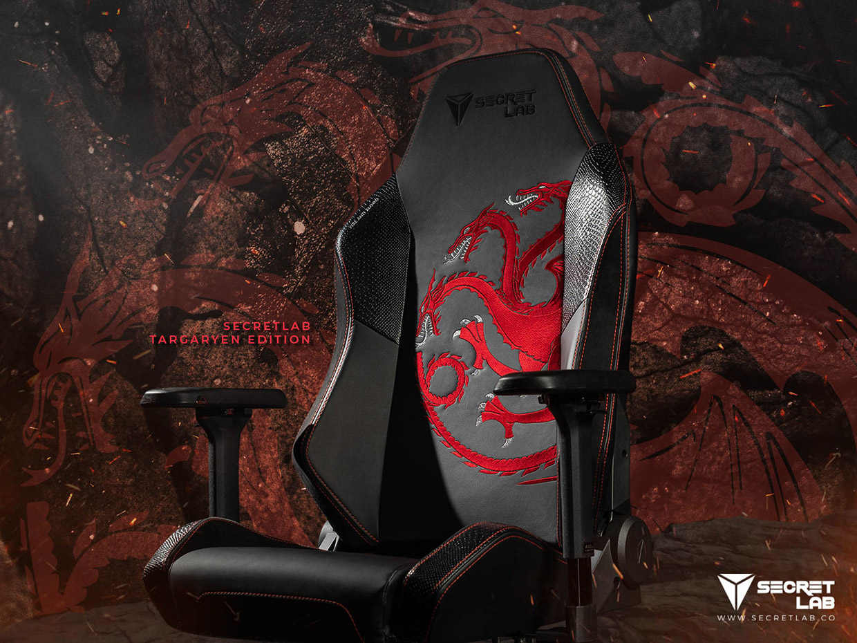 Game Of Thrones Gaming Chairs Got Lumbar Support