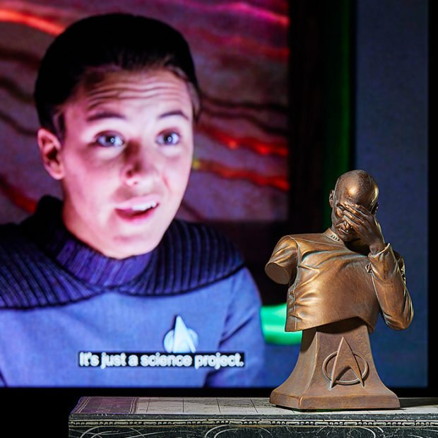 Bronze Edition Picard Facepalm Bust: For the Classically Stupid