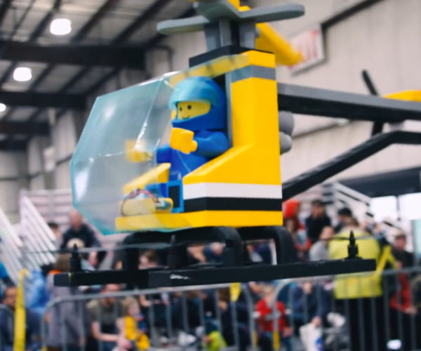 This Working Drone Looks Like a LEGO Helicopter
