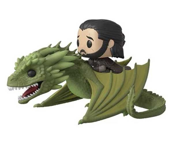 Jon Snow Rides This Game of Thrones Rhaegal POP! Figure