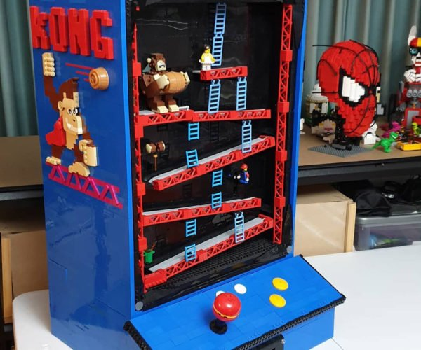 We Want to Play this LEGO Donkey Kong Arcade Machine