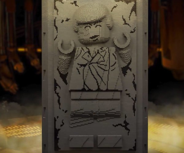 Giant LEGO Han Solo Minifig Gets Frozen in Carbonite