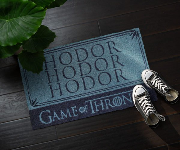 Hodor Doormat Stops Dirt from Entering Your Castle