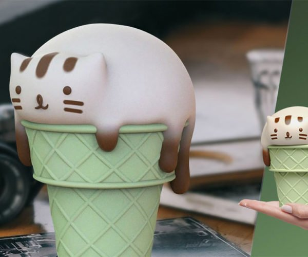 Meowlting Catpuccino Figure: For Cat, Coffee, and Ice Cream Lovers