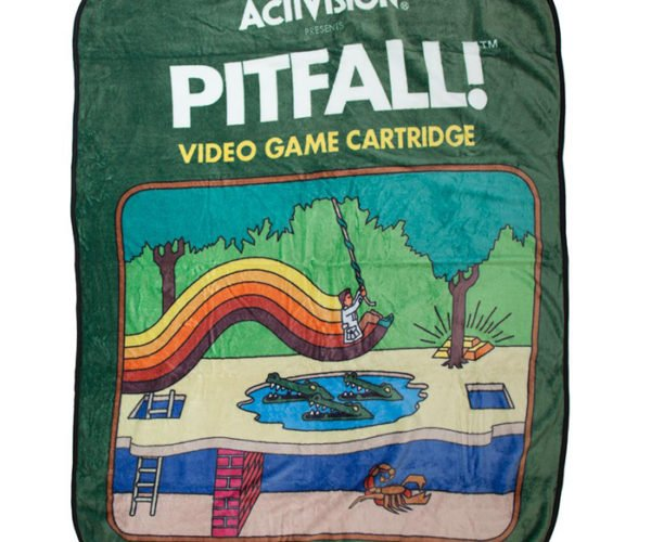 Pitfall! Atari Cartridge Throw Blanket Won't Protect You from Crocodiles or Scorpions