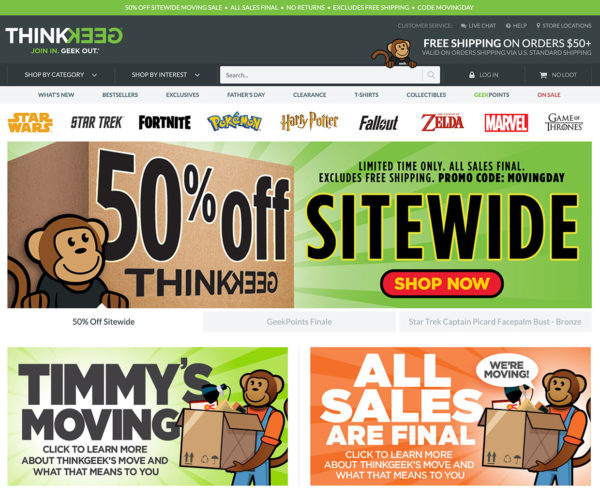 ThinkGeek Is Closing Its Website?!?