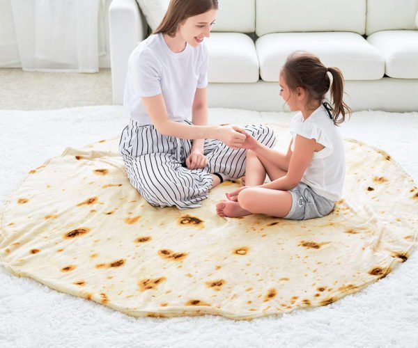 The Burrito Blanket Looks Like a Giant Tortilla