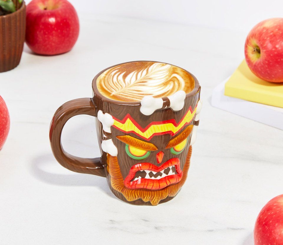 38795ef2d9f ... ceramic mug features the ugly mug of that evil and grumpy human spirit  who came back as an evil mask, and will look great keeping your coffee or  tea ...