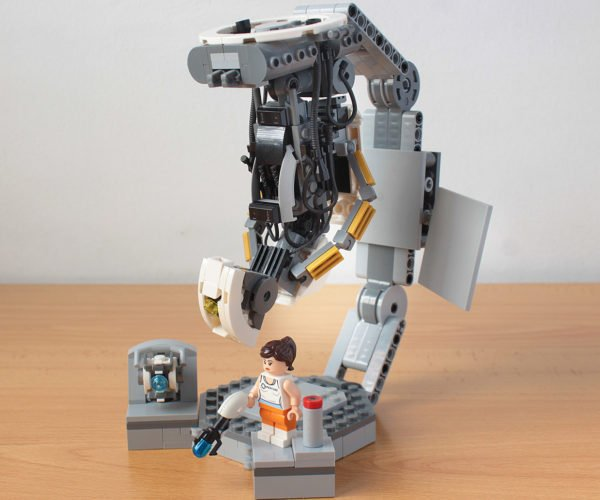 LEGO Ideas Portal 2 Model Brings GLaDOS, Chell, and Wheatley to Life