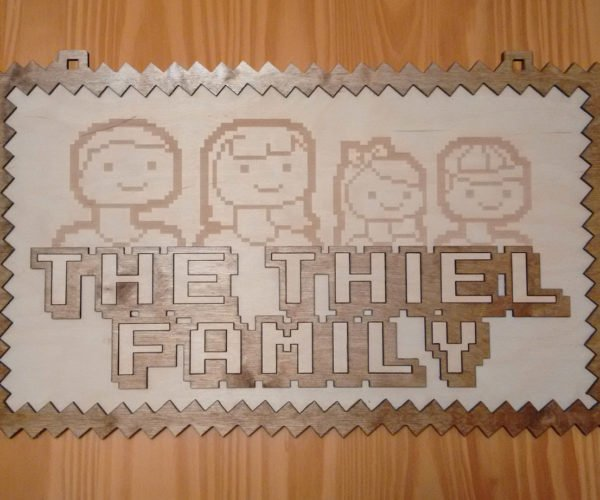 8-Bit Family Signs Reduce Your Siblings to Pixels