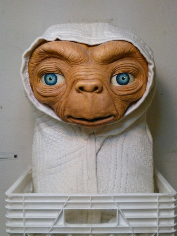 Welcome E.T. Into Your Home with This Life-size Replica Mask