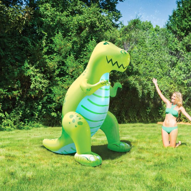 Water Your Lawn with a Giant Dinosaur Sprinkler