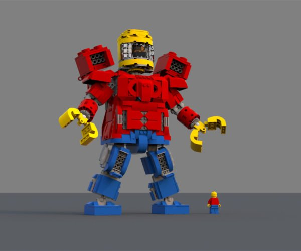 LEGO Minifig Battle Machine Concept: Mechafig