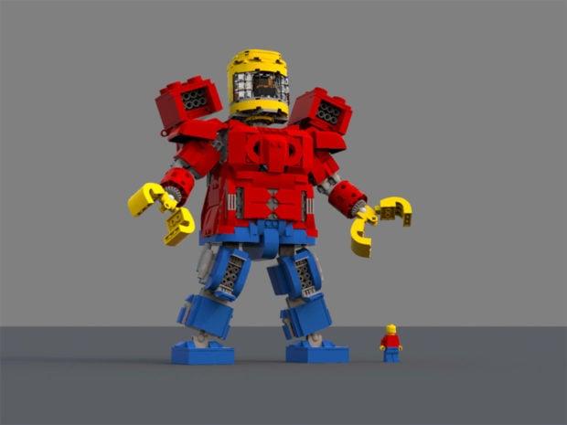 LEGO Minifig Battle Machine Concept: Mechafig