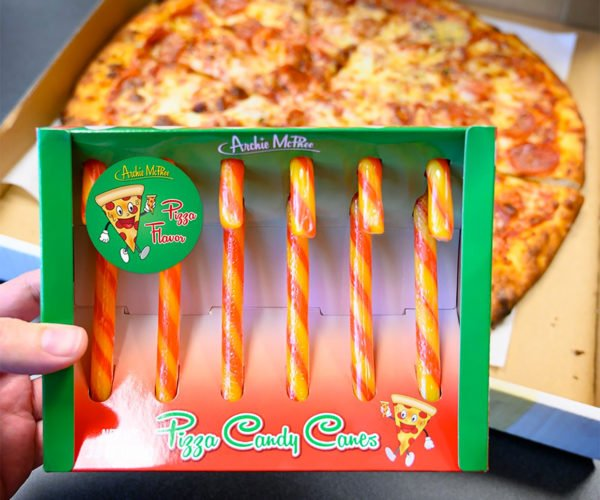 Pizza Candy Canes: You Wanna Pizza Me?