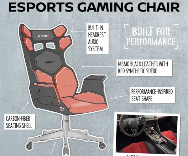 Nissan Designs the Ultimate Gaming Chairs, Inspired by Car Seats