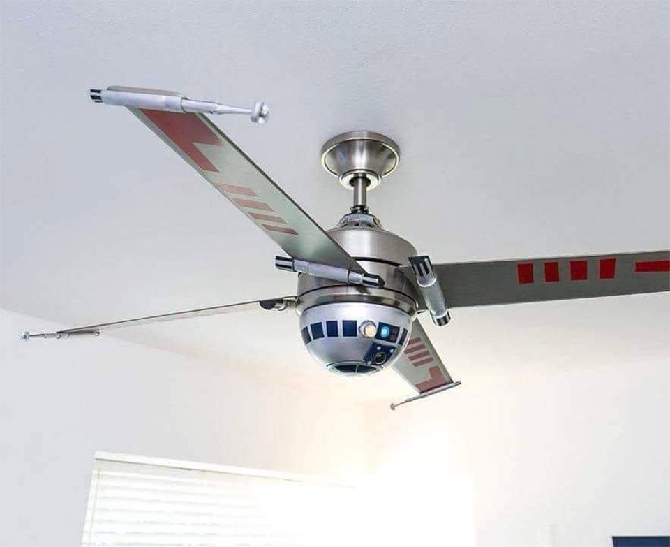 R2-D2 X-Wing Ceiling Fan: Use the Downforce