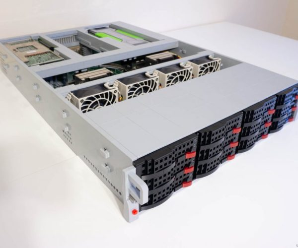 This Rack-Mount Server Is Built from LEGO Bricks